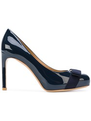 Salvatore Ferragamo Vara Pumps Women Leather Patent Leather 5.5 Blue
