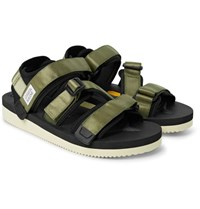 Suicoke Kisee V Webbing And Neoprene Sandals Army Green