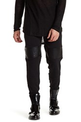 Hip And Bone Embossed Leather Knit Jogger Gray