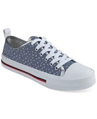 Tommy Hilfiger Tayla Lace Up Sneakers Women's Shoes Light Blue Stars