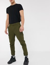Sik Silk Siksilk Taped Cuffed Cargo Pants Green