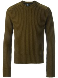 Paul Smith Ps By Shoulders Patch Ribbed Jumper Green