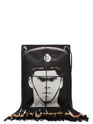 Jw Anderson X Gilbert And George Print Canvas Bag Black Multi