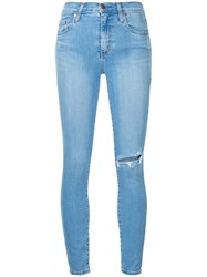 Nobody Denim Cult Skinny Ankle Refresh Jeans Cotton Polyester Spandex Elastane Blue
