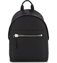 Tom Ford Buckly Leather Backpack Black Silver