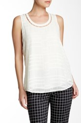Nydj Clipped Jacquard Tank White
