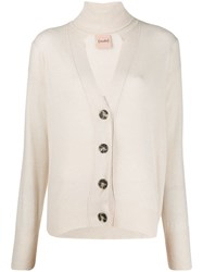 Nude Knitted Turtle Neck Cardigan Neutrals