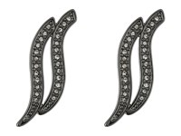Rebecca Minkoff Swirl Post Earrings Gunmetal Crystal Earring Multi