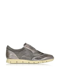 D'acquasparta Raffaello Dark Gray Leather Slip On Shoe