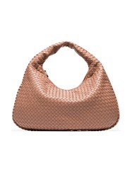 Bottega Veneta Pink Hobo Leather Shoulder Bag Nude And Neutrals