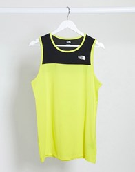 The North Face Active Trail Tank Top In Yellow