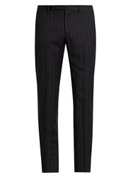 Maison Martin Margiela Pinstriped Trousers Dark Blue