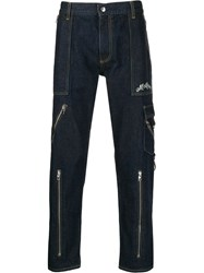 Alexander Mcqueen Zipped Pocket Jeans Blue