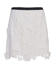 French Connection Mimi Bouquet Mini Skirt Winter White