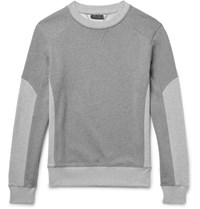 Belstaff Matterley Two Tone Loopback Cotton Jersey Sweatshirt Gray
