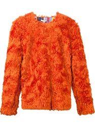 Kit Neale Synthetic Fur Sweater Yellow And Orange