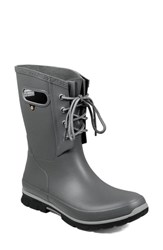 Bogs Amanda Waterproof Boot Dark Gray Rubber
