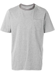 Sacai Silky Crew Neck T Shirt Grey