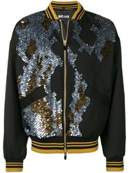 Just Cavalli Sequin Bomber Jacket Black