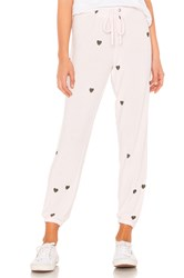 Chaser Tiny Hearts Sweatpant Pink