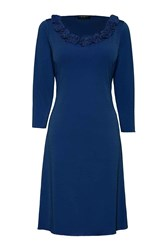 James Lakeland Rose A Line Dress Navy
