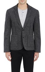 Atm Anthony Thomas Melillo Bonded Jersey Two Button Sportcoat Black Si