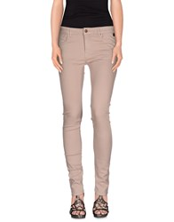 Fairly Denim Denim Trousers Women Light Brown