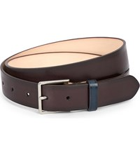 Paul Smith Accessories Burnished Leather Belt Choclate