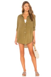 Acacia Swimwear Milos Button Up Dress Olive