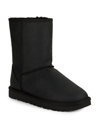 Ugg Classic Short Leather Boots Black