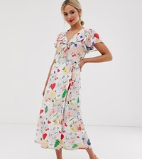Lily And Lionel Exclusive Maxi Wrap Dress In Daydream Multi