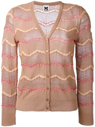 M Missoni Buttoned Cardigan Brown
