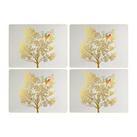 Sara Miller Chelsea Collection Placemats Light Grey Set Of 4