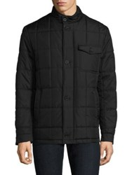 Tumi Quilted Woven Jacket Black Olive