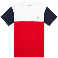 Lacoste Colour Block Tee Red