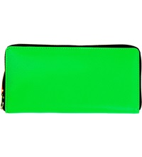 Comme Des Garcons Fluoro Leather Wallet Green