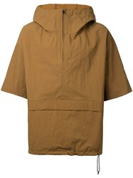 En Route Zipped Neck Hooded Jacket Men Nylon 2 Beige