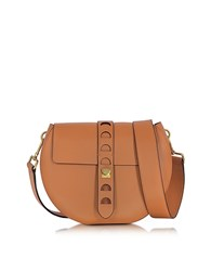 Coccinelle Carousel Large Cuoio Leather Crossbody Bag Brown