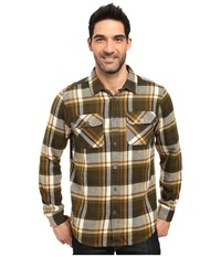 Prana Lybeck L S Flannel Cargo Green Men's Long Sleeve Button Up