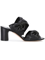 Casadei Knotted Straps Sandals Women Calf Leather Leather Nappa Leather 38.5 Black