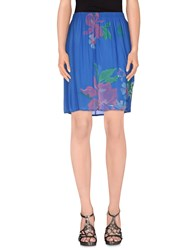 Franklin And Marshall Skirts Mini Skirts Women Blue