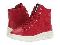 Ecco Soft 3 High Top Chili Red Chili Red Women's Lace Up Boots