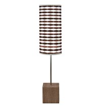 Jefdesigns Weave 3 Cuboid Table Lamp Brown
