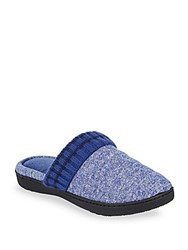Isotoner Heathered Quilted Slippers Ash