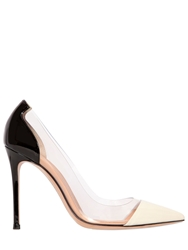 Gianvito Rossi 100Mm Two Tone Patent Leather Pumps White Black