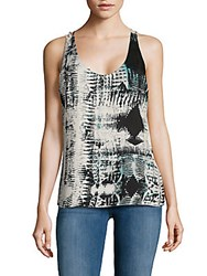 Parker Printed Tank Top Tribal Blur