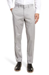 Nordstrom Shop Athletic Fit Non Iron Chinos Grey Alloy