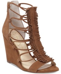 Jessica Simpson Beccy Strappy Sandals Women's Shoes Canela Brown