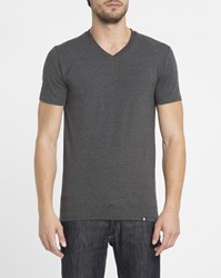 Roscoe Charcoal Tyler V Neck T Shirt Grey