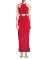Fame And Partners The Annalise Long Cutout Dress Red
